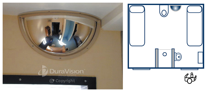 Half Dome Convex Polycarbonate Mirror